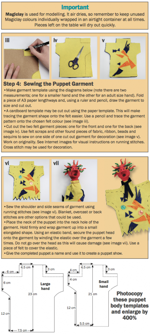 Puppet template instructions